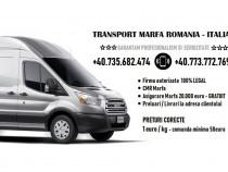 Transport marfa Romania Italia - colete pachete mobila termo