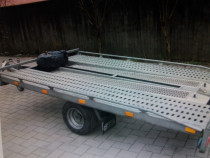 Platforma transport auto cu o axa