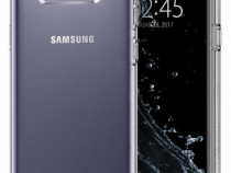 Samsung S8 S8 Plus - Pachet Husa Silicon Clara/Neagra + Foli