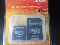 (Set) Adaptor Transcend memorie SD - microSD - miniSD (nou)