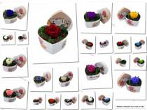 Trandafir criogenat Wide Flowers 6,5cm incutie inima