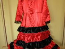Costum carnaval serbare rochie dans flamenco 11-12-13-14 ani