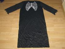 Costum carnaval serbare schelet pentru adulti marime XXL-XXX