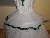 Costum carnaval serbare rochie gala printesa 5-6 ani cu cerc