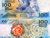 Bancnota 100 escudos, 1987, portugalia, unc, necirculata
