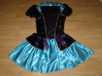 Costum carnaval serbare rochie medievala clovnita adulti M