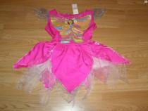Costum carnaval serbare rochie barbie fluture 4-5-6 ani