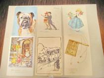 A601-Lot 12 Carti Postale tematica comica anii 1989-1930.