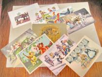 A602- Lot 9 Carti Postale tematica comica anii 1915-1930.