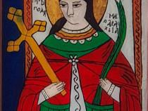 Sfanta Cuvioasa Parascheva-icoana pe sticla