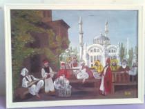 "Pictura in ulei pe panza""seara turceasca"""