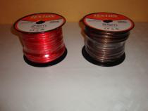 Rola cablu putere subwoofer sectiune 8mm 6GA rosu lungime 25