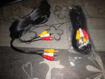 Cablu semnal audio video 3x RCA la 3x RCA lungime 5m 3 culor