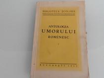 Carte veche antologia umorului romanesc volum unu