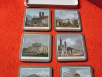 Cadou inedit-'Munchen' Coasters-made England '70s Pimpernel