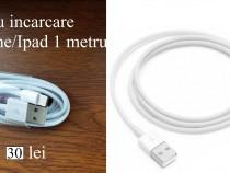 Cablu incarcare/date Iphone 5/5s/6/6s/7/8/X de 1 metru