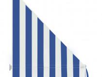 Copertină de bistro, albastru și alb, 143722