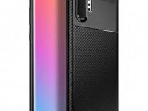 Samsung NOTE 9 10 10 Plus - Husa Carbon Din Silicon Neagra