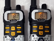 Set 2 statii radio (walkie-talkie) Brondi FX-200 Trio