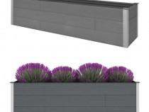 Jardinieră de grădină, gri, 200x50x54 cm 45754