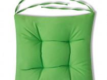 Set perne de scaun, 4 buc, 40 x 40 x 8 cm, verde40954