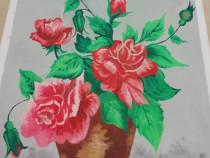 Tablouri pictate pe panza, in ulei