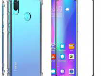 Huawei P Smart 2019 - Husa Anti Soc Silicon + Folie Sticla