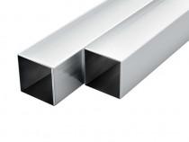Tuburi din aluminiu, secțiune pătrată 143171