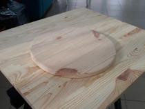 Blat masa 20 mm grosime, 500 mm diametru din lemn masiv de p