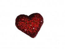 Brosa inima rosie, brosa inima, brosa rosie, accesorii femei