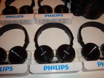 Casti Philips cu microfon pe fir cablu jack SHL3005BK Headph