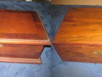 B165-2 Casete vechi anii 1930 lemn furniruit cu marchetarie.