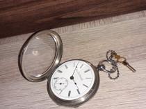 Ceas de buzunar argint Elgin National Watch Co - Rezervat