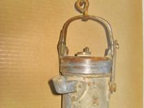B183-Lampa carbit Sadu 1966 Romania veche metal.