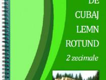 Tabele Cubaj Lemn Rotund, 2 zec., Spiralată, plastifiat