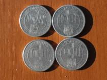 Lot 4 monede 1000 lei 2000, 2002 și 2003