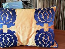 Perne decorative 60x40 cm, matase naturala cu fibre sintetic