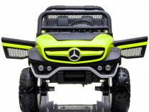 Masinuta electrica mercedes unimog 4x4 premium #verde