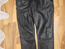 Pantaloni raberg ,piele naturala de calitate moto,chopper