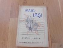 Orasul iasi plan turistic 1965