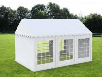 Cort grădină alb premium cu protecție UV Delta 4×6 m
