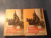 Istoria infanteriei romane 2 volume Gh. Romanescu autograf