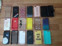 Huse iphone 7 noi si SH de carbon silicon, flip, 6S Plus