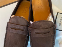 Gucci drive shoes, web suede,produs original.