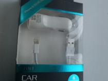 Incarcator auto cu cablu iphone