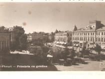 Carte postala Ploiesti-Primaria cu gradina