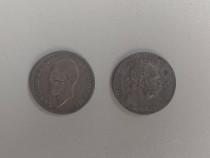 1 leu 1914 si 1 korona 1915 moneda argint veche de colectie