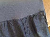 Blugi de gravida L / XL + cadou 1 bluza