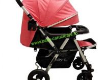 Cărucior nou născut 2in1+plasă insecte Baby Care 511 Pink