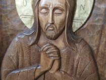 Icoană sculptată în lemn